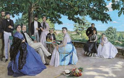 Family Reunion, 1867 by Frederic Bazille
