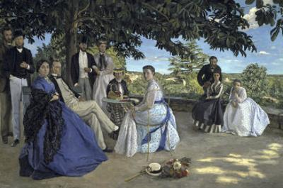 Family Reunion, c.1867 by Frederic Bazille