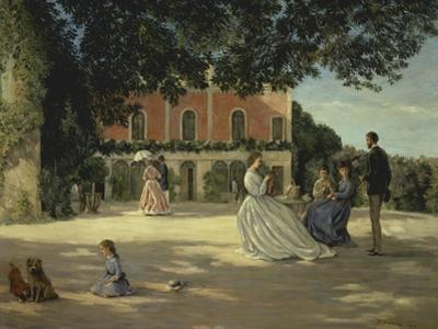 Family Reunion on the Terrace by Frederic Bazille