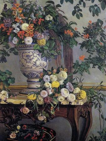 Flowers, 1868 by Frederic Bazille