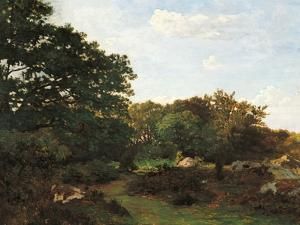 Forest of Fontainebleau by Frederic Bazille
