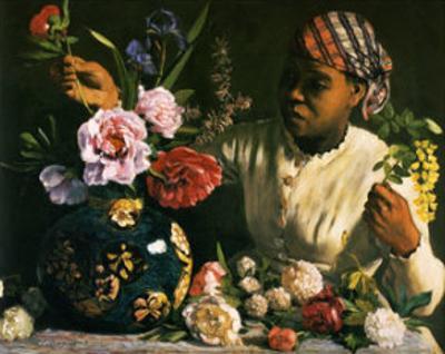 La Negresse aux Pivoines, 1870 by Frederic Bazille