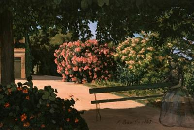 Les Lauriers Roses, 1867 by Frederic Bazille