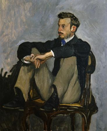 Portrait of Auguste Renoir 1867 by Frederic Bazille