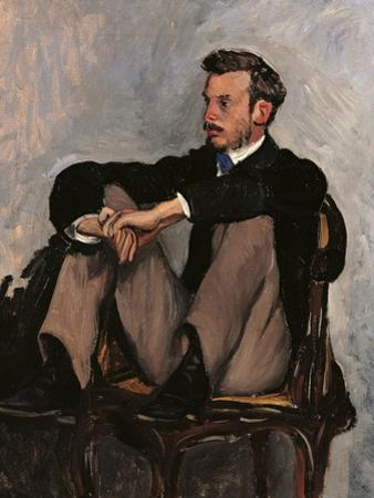 Portrait of Renoir by Frederic Bazille