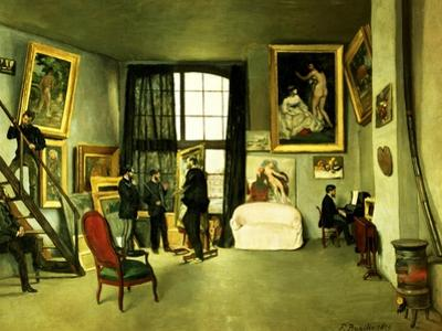 The Artist's Studio, 1870 by Frederic Bazille