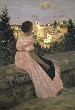 The Pink Dress, c.1864 by Frederic Bazille