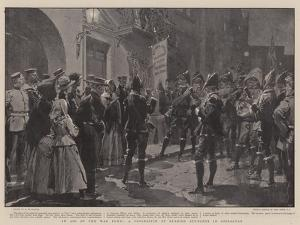 In Aid of the War Fund, a Procession of Spanish Students in Gibraltar by Frederic De Haenen