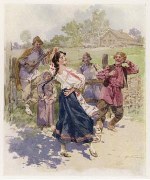 Peasant Dance in Little Russia by Frederic De Haenen