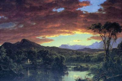 A Rural Home by Frederic Edwin Church