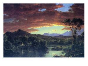 A Rural Home by Frederic Edwin Church
