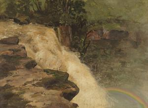 A Waterfall in Colombia by Frederic Edwin Church
