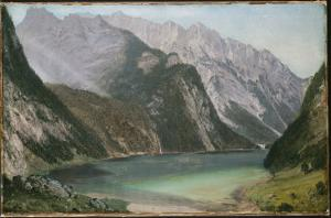 Alpine Lake by Frederic Edwin Church