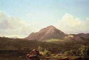 Camp Fire in the Maine Wilderness by Frederic Edwin Church