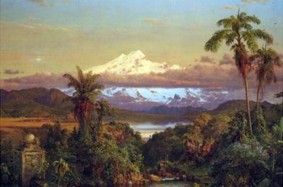 Cayambe, Ecuador by Frederic Edwin Church