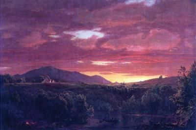 Dusk (Sunset) by Frederic Edwin Church