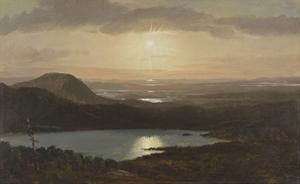 Eagle Lake Viewed from Cadillac Mountain, Mount Desert Island, Maine by Frederic Edwin Church