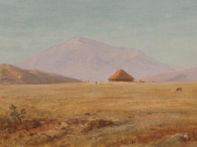 Ecuador, Mountain Plateau with Hut by Frederic Edwin Church