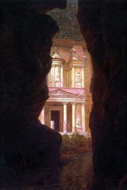 El Khasne, Petra by Frederic Edwin Church