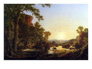 Hooker and Convoy Pass Through the Wilderness of Plymouth to Hartford by Frederic Edwin Church