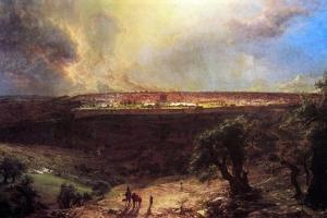 Jerusalem From The Mount Of Olives by Frederic Edwin Church