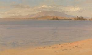 Mount Katahdin from Lake Millinocket by Frederic Edwin Church