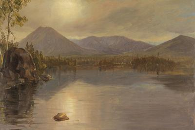 Mounts Katahdin and Turner from Lake Katahdin, Maine by Frederic Edwin Church