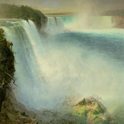 Niagara Falls, from the American Side, 1867 by Frederic Edwin Church