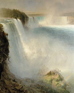 Niagara Falls from the American Side by Frederic Edwin Church