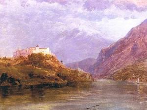 Salzburg Castle, 1868-69 by Frederic Edwin Church