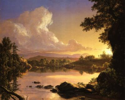 Scene on Catskill Creek by Frederic Edwin Church