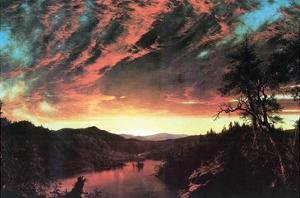 Secluded Landscape in the Sunset by Frederic Edwin Church