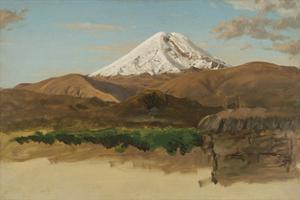 Study of Mount Chimborazo, Ecaudor by Frederic Edwin Church