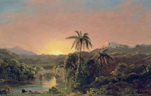Sunset in Equador by Frederic Edwin Church