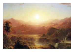 The Andes of Ecuador Detail by Frederic Edwin Church