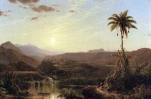 The Cordilleras - Sunrise by Frederic Edwin Church