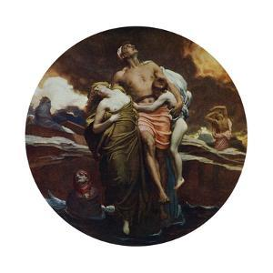 And the Sea Gave Up the Dead Which Were in It, Exhibited 1892 by Frederic Leighton