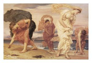 Greek Girls Picking up Pebbles by Frederic Leighton