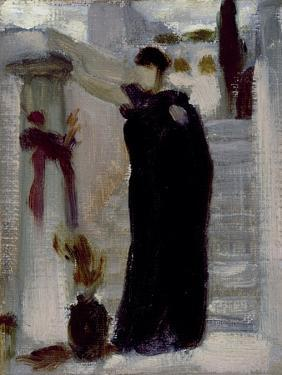 Sketch for 'Electra at the Tomb of Agamemnon', C.1869 by Frederic Leighton
