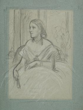 Study for 'Mrs Charles Magniac', C.1863 by Frederic Leighton