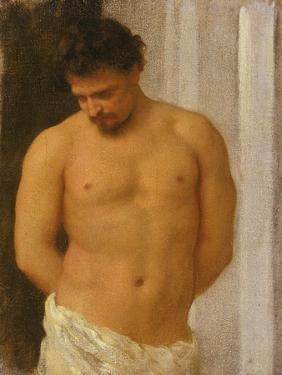 Study of a Male Figure by Frederic Leighton