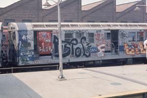7Th Ave. Subway Train Covered in Graffiti by Frederic Lewis