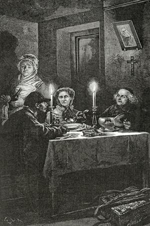 Jean Valjean Is Received and Cared for by Bishop Myriel, 19th Century