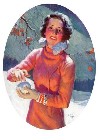 """""""Woman Forming a Snowball,""""February 10, 1934"""