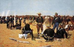 A Calvaryman's Breakfast On The Plains by Frederic Sackrider Remington