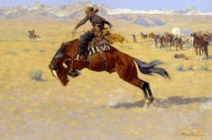 A Cold Morning on the Range by Frederic Sackrider Remington