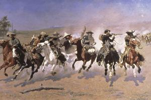 A Dash for the Timber by Frederic Sackrider Remington