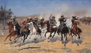 A Dash For Timber by Frederic Sackrider Remington