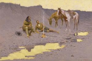 A New Year on the Cimarron by Frederic Sackrider Remington