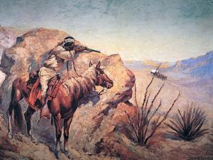 Apache Ambush by Frederic Sackrider Remington